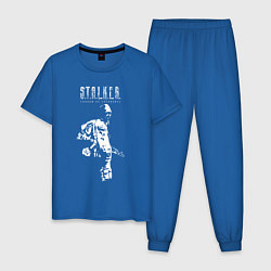 Пижама хлопковая мужская STALKER: Shadow of Chernobyl цвета синий — фото 1