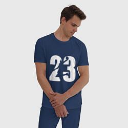 Пижама хлопковая мужская LeBron 23 цвета тёмно-синий — фото 2