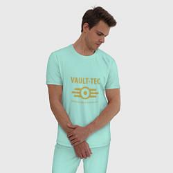 Пижама хлопковая мужская Vault Tec цвета мятный — фото 2