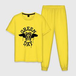Пижама хлопковая мужская Green Day: Class of 13 цвета желтый — фото 1