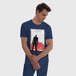 Пижама хлопковая мужская Hitman: City Killer цвета тёмно-синий — фото 2