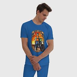 Пижама хлопковая мужская ENDURO Racing цвета синий — фото 2