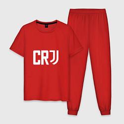 Пижама хлопковая мужская CR7 цвета красный — фото 1