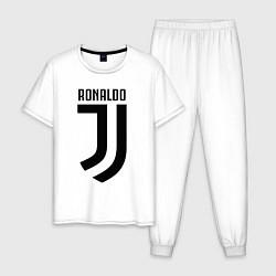 Пижама хлопковая мужская Ronaldo CR7 цвета белый — фото 1