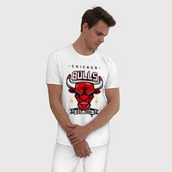 Пижама хлопковая мужская Chicago Bulls est. 1966 цвета белый — фото 2