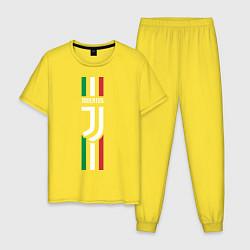 Пижама хлопковая мужская FC Juventus: Italy цвета желтый — фото 1