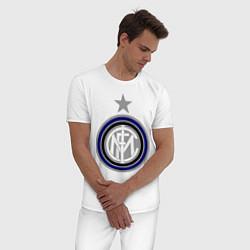 Пижама хлопковая мужская Inter FC цвета белый — фото 2