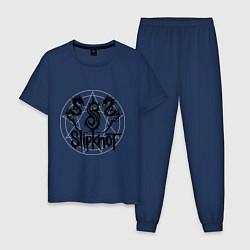 Пижама хлопковая мужская Slipknot Dragons цвета тёмно-синий — фото 1