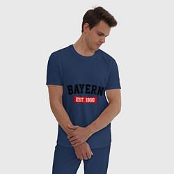 Пижама хлопковая мужская FC Bayern Est. 1900 цвета тёмно-синий — фото 2
