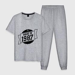 Пижама хлопковая мужская Made in 1987 цвета меланж — фото 1
