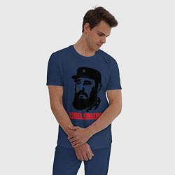 Пижама хлопковая мужская Fidel Castro цвета тёмно-синий — фото 2