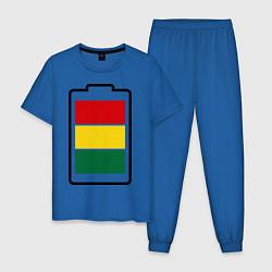 Пижама хлопковая мужская Happy Battary цвета синий — фото 1
