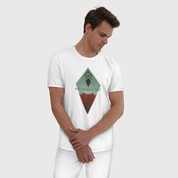 Пижама хлопковая мужская No Man's Sky: Geometry цвета белый — фото 2