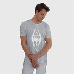 Пижама хлопковая мужская TES Dragon цвета меланж — фото 2
