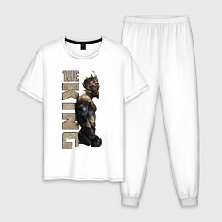 Пижама хлопковая мужская McGregor: The King цвета белый — фото 1