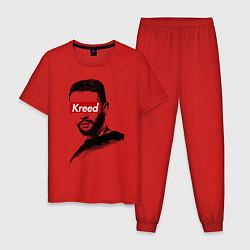 Пижама хлопковая мужская Kreed Supreme цвета красный — фото 1