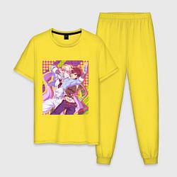 Пижама хлопковая мужская JoJo цвета желтый — фото 1