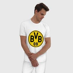 Пижама хлопковая мужская BVB 09 цвета белый — фото 2
