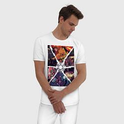 Пижама хлопковая мужская Back to the future цвета белый — фото 2