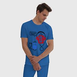 Пижама хлопковая мужская I am your father цвета синий — фото 2