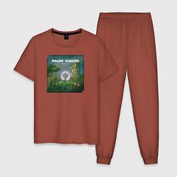Пижама хлопковая мужская Imagine Dragons Origins цвета кирпичный — фото 1