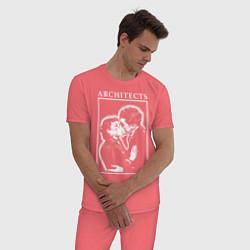 Пижама хлопковая мужская Architects: Love цвета коралловый — фото 2