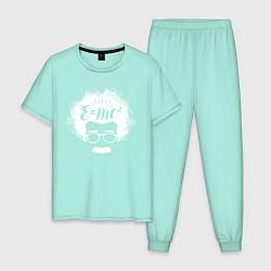 Пижама хлопковая мужская EMC2 цвета мятный — фото 1