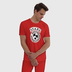 Пижама хлопковая мужская STARS RACCOON CITY цвета красный — фото 2