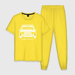 Пижама хлопковая мужская Жигули 2103 цвета желтый — фото 1