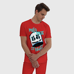 Пижама хлопковая мужская Mello Made it Right цвета красный — фото 2