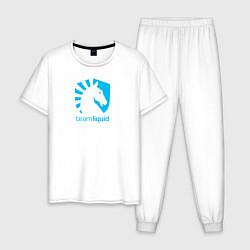 Пижама хлопковая мужская TEAM LIQUID цвета белый — фото 1