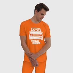 Пижама хлопковая мужская Ваз 2105: Боевые Жигули цвета оранжевый — фото 2
