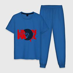 Пижама хлопковая мужская Linkin Park: Vinyl цвета синий — фото 1