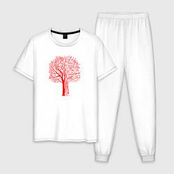 Пижама хлопковая мужская CYBERPUNK 2077 цвета белый — фото 1
