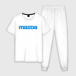 Пижама хлопковая мужская MAZDA цвета белый — фото 1