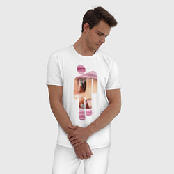 Пижама хлопковая мужская Billie Eilish Style цвета белый — фото 2