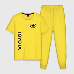 Пижама хлопковая мужская TOYOTA цвета желтый — фото 1
