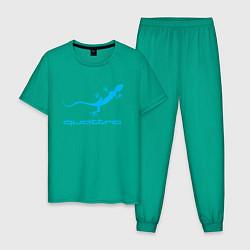 Пижама хлопковая мужская AUDI цвета зеленый — фото 1