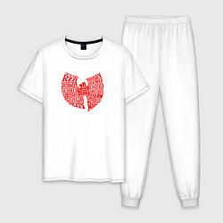 Пижама хлопковая мужская WU TANG CLAN цвета белый — фото 1