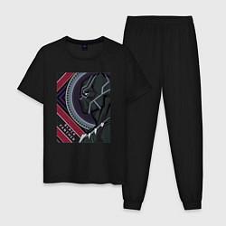 Пижама хлопковая мужская Black panther цвета черный — фото 1