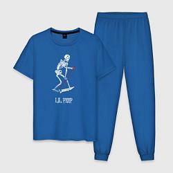 Пижама хлопковая мужская Lil Peep цвета синий — фото 1
