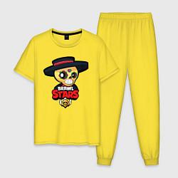 Пижама хлопковая мужская Brawl Stars 8 цвета желтый — фото 1