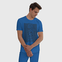 Пижама хлопковая мужская Joy Division: What the fuck цвета синий — фото 2