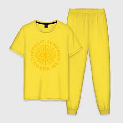 Пижама хлопковая мужская 21 Pilots: Jumpsuit Cover Me цвета желтый — фото 1