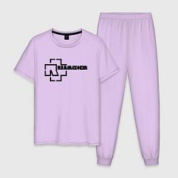 Пижама хлопковая мужская Rammstein цвета лаванда — фото 1