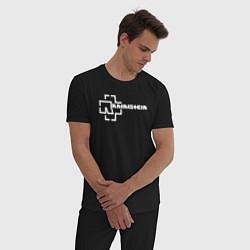 Пижама хлопковая мужская Rammstein цвета черный — фото 2
