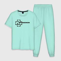 Пижама хлопковая мужская Rammstein цвета мятный — фото 1