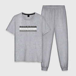 Пижама хлопковая мужская Rammstein Shadows цвета меланж — фото 1