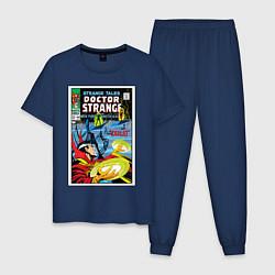Пижама хлопковая мужская Doctor Strange цвета тёмно-синий — фото 1