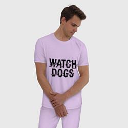 Пижама хлопковая мужская Watch Dogs цвета лаванда — фото 2